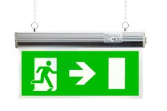 EcoBrite® 2W Emergency Double-Sided LED Hanging Exit Sign with RIGHT ARROW