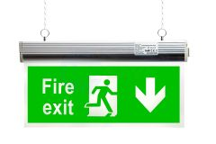 EcoBrite® 2W Emergency LED Hanging Exit Sign with DOWN ARROW