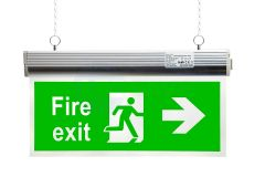 EcoBrite® 2W Emergency LED Hanging Exit Sign with RIGHT ARROW